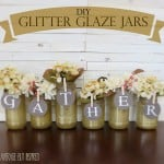 DIY Glitter Glazed Glass Jars