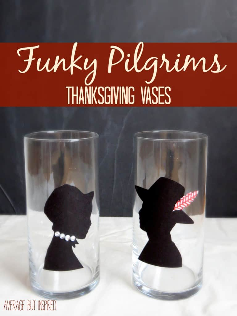 FUnky Pilgrims Vases for Thanksgiving