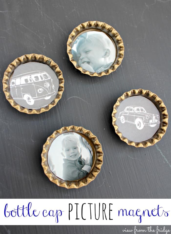 bottlecap photo magnets