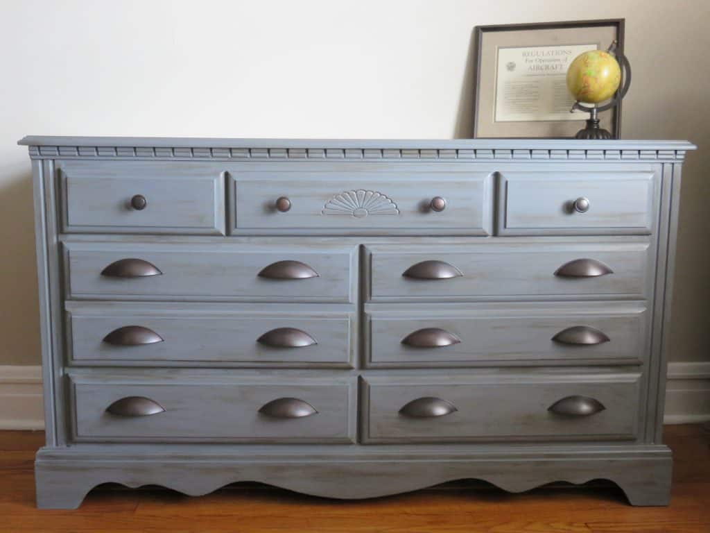 dresser makeover with americana decor chalky finish paint - dresser  finished horizontal no watermark