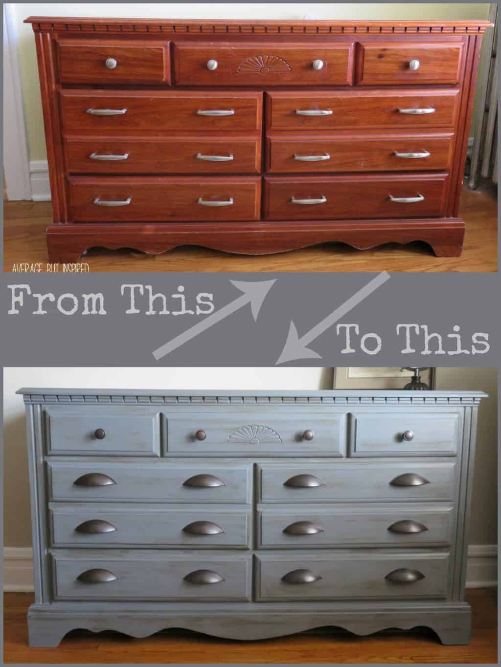 Painted Dresser Ideas dresser makeover with americana decor chalky finish paint