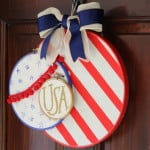 Patriotic Embroidery Hoop Wreath