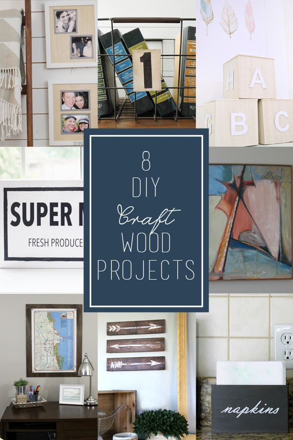 give your large scale art a pretty frame with this easy diy plywood poster