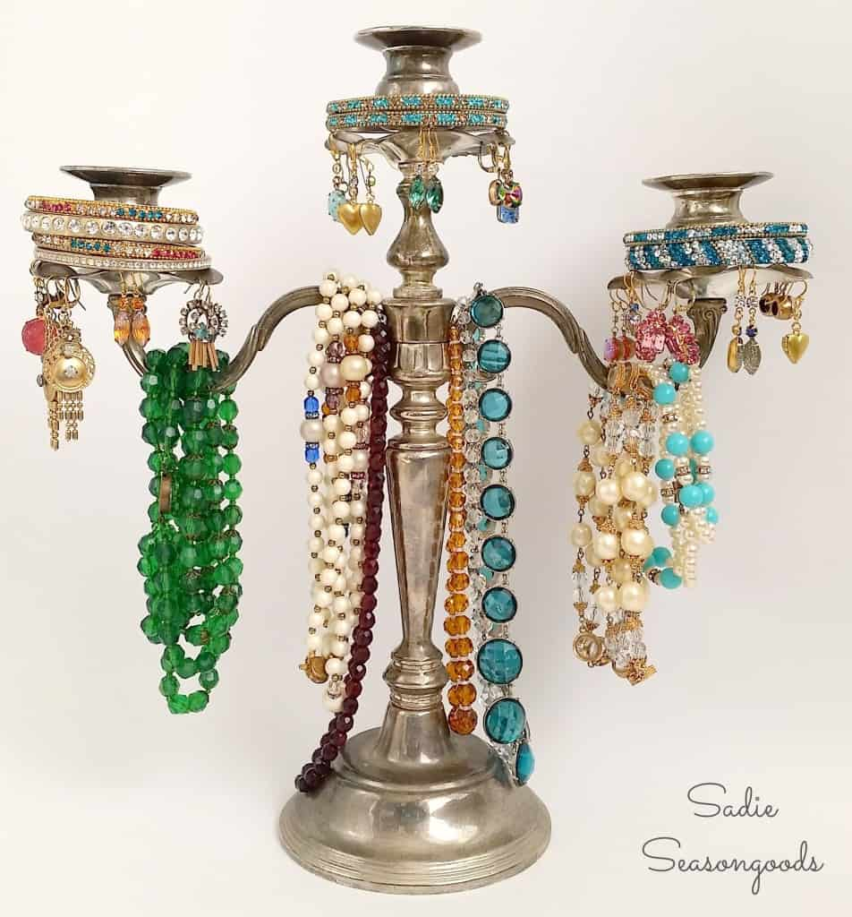 Sadie_Seasongoods_thrifted_silver_candelabra_jewelry_tree-1