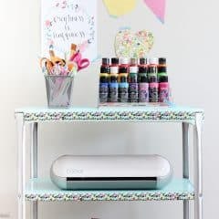 Vintage Projector Cart to Craft Cart Makeover {Monthly DIY Challenge}