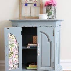FAT Paint Antique Wedgewood Blue Console Cabinet Makeover {Monthly DIY Challenge}