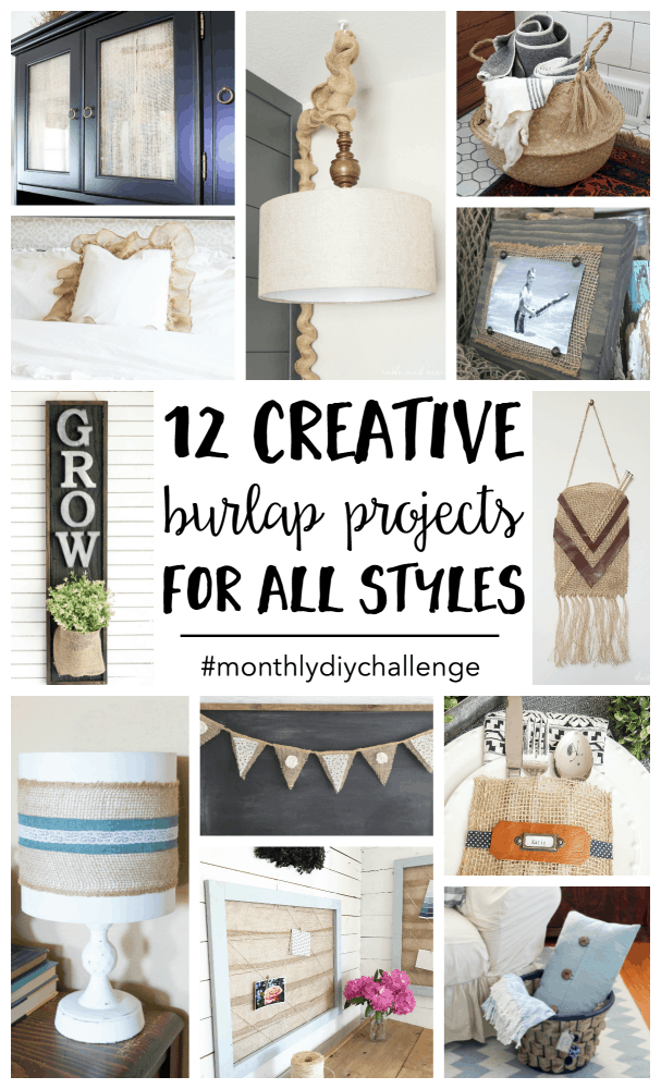 Burlap projects have been around a long time, but here are twelve great burlap project ideas you may not have seen before!